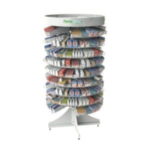 Pharmacy Rotating Shelves