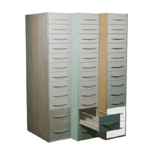 pharmacy shelving drawers